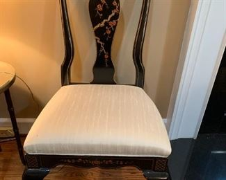 #22Black Laquer Painted Side Chair $75.00