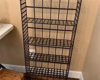 #37Black 6 wire Shelf 19x6x42 $30.00
