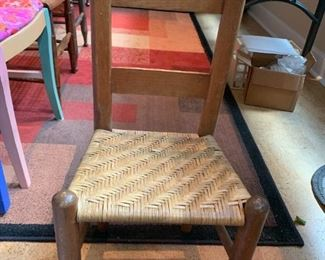 "#58Kids Wood Basket Weave Chair - 12"" Seat Height $25.00"