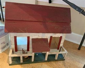 #59Wood Hand-made Doll House   22x12x20 $20.00