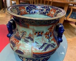 #68Blue Ironstone Celadon Pottery  $100.00