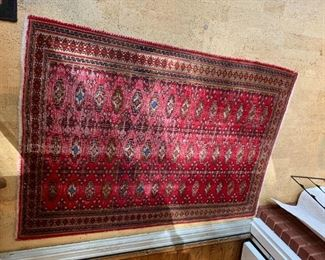 #71Hand-knotted Vegetable dyed Antique Rug - 42x56 $75.00
