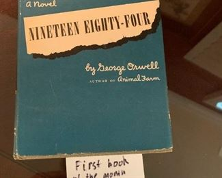 #96Nineteen Eight-Four by George Owell - First Book of the Month Club Edition $20.00