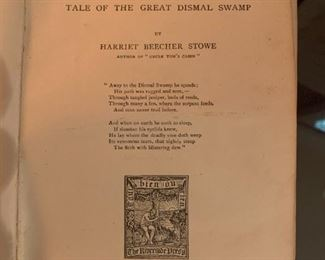 #97Dred - Tale of the Great Dismal Swamp by Harriet Beecher Stowe - 1895 $50.00