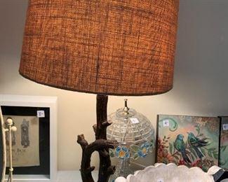 #126Twig Lamp (missing finial) $30.00