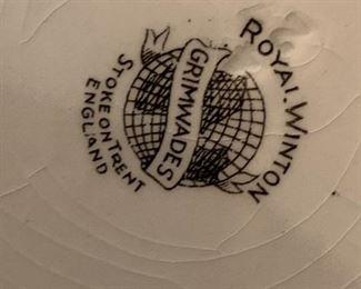 #134Royal Winton grimwades stoke on Trent england 3 piece jam st $30.00