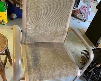 #156Gray Patio Chairs (2) sold as a pair $20.00