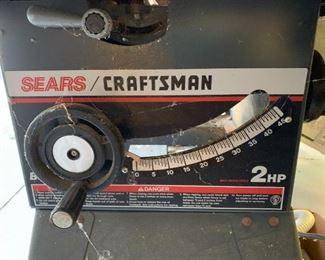 "#158Sears Craftsman Table Saw 2 HP 10"" Belt Drive $200.00"