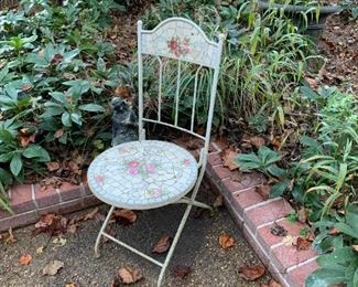 #177Mosaic Seat & Back Outdoor Chair $40.00