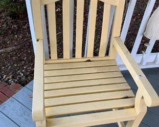 #183Yellow Slat Chair   (3)   $75 each $225.00