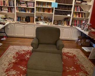#89 Clayton Markus chair and ottaman grayest $125