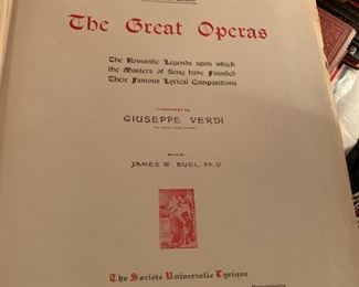 #985 Opera Books - Red  $40.00