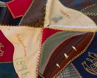 #197quiltwool 1867 scrappie quilt square cover  $75.00