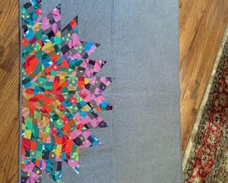 #209quilthand made wall hanging quilt $75