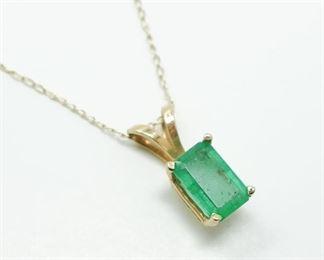 14k Gold Emerald Pendant to Benefit EndCAN Foundation