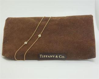 "Elsa Peretti Diamonds By The Yard 18k Gold 20"" Necklace"