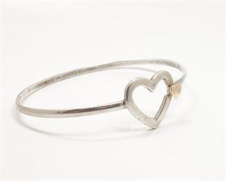 Hogan & Bolas Sterling Silver 14k Gold Heart Bracelet