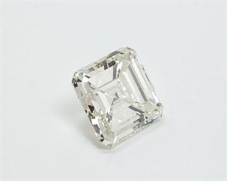 GIA Certified Square Emerald Cut Diamond 6.52 carats