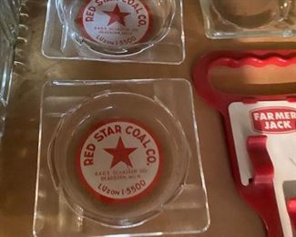 Red Star Coal Co Ashtrays