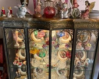 French Gold Gilt Display Cabinet - originally was in the Whitney in  Detroit. Client has had in home since the 1960's.