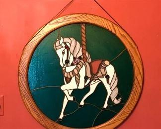 Carousel horse wall hanging