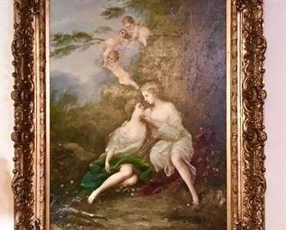 Oil painting beautiful frame very large painting