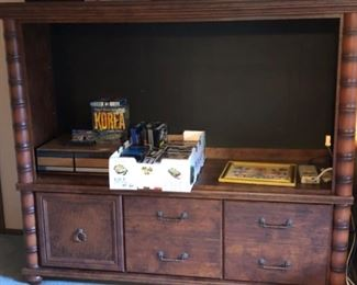 Beautiful two piece entertainment center