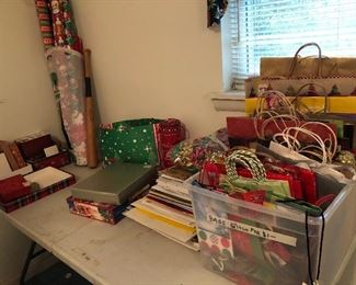 Christmas boxes, paper, present boxes and bags