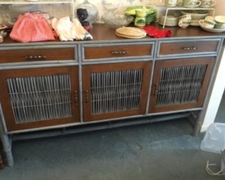 Metal & wood buffet (matches table)