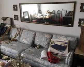 Sofa - mirror above sofa - miscellaneous