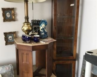 End tables that match coffee table - curio cabinet