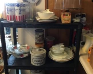 Dishes and kitchen items