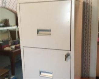 2 drawer filing cabinet with lock/key