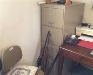 4 drawer file cabinet - old guns (not on premises)