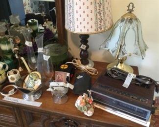 Close up of dresser items