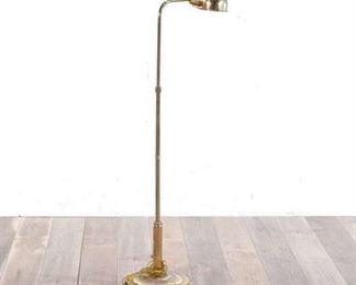 3.5' Vintage Burnished Brass Floor Lamp