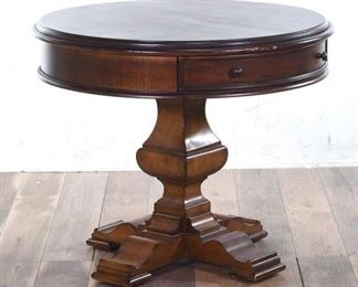 Stanley Furniture Round Table With Pull-Out Drawer