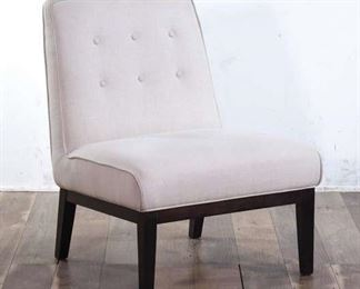 Cream Tone Low To The Ground Armless Lounge Chair