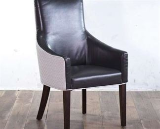 Elevated Grey Armchair With Contrast Tone Design