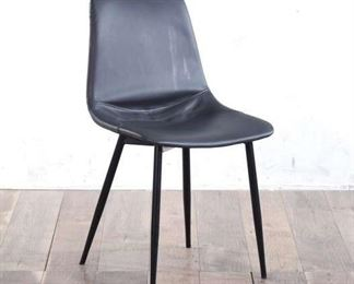 Grey Chair With Elegant Tapered Design