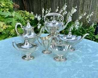 "Gorham sterling ""Plymouth"" tea service"