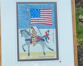"Susi Nagoda-Berquist  ""Coyote Leads the Parade""           			                                                                           frame size 21""h x 17""w"