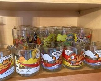 1978 Garfield and Disney Pixar McDonalds Glasses