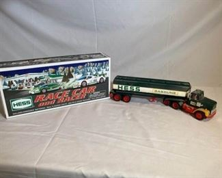 2009 Hess Car Racer and Hess Oil Tanker
