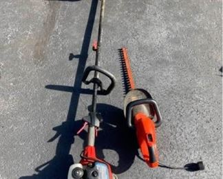 Black and Decker Hedge Saw and Toro Weed Wacker