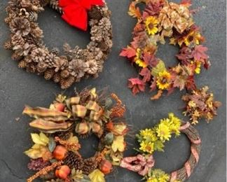 Fall and Winter Wreaths and Decor