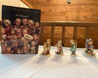 Hummel Figurines and Golden Anniversary Album Book