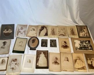 Large Lot of Vintage Photos and Cabinet Cards