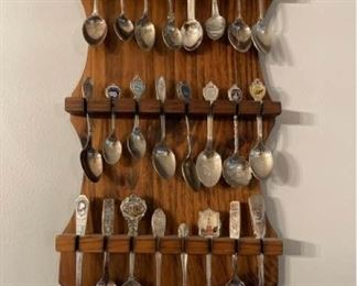 More Souvenir Spoons with Holder