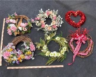 Spring and Valentines Day Wreaths